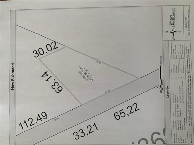 Terrain à vendre à New Richmond, Gaspésie/Îles-de-la-Madeleine, 9999, boulevard  Perron Ouest, 17128639 - Centris.ca