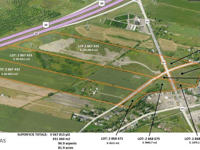 Terre à vendre à Saint-Isidore (Montérégie), Montérégie, 28, Rang  Saint-Régis Nord, 22878626 - Centris.ca