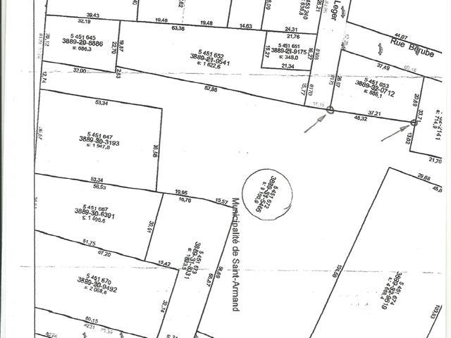 Terrain à vendre à Saint-Armand, Montérégie, Rue  Allan, 17618410 - Centris.ca