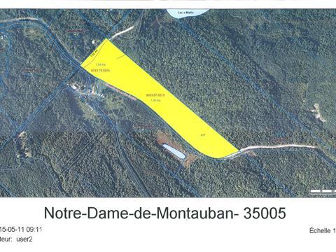 Terre à vendre à Notre-Dame-de-Montauban, Mauricie, Lac du Castor, 10582016 - Centris.ca