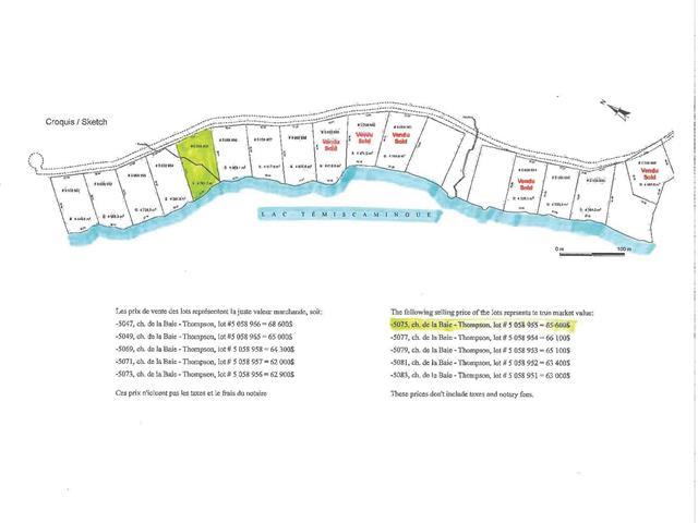 Lot for sale in Témiscaming, Abitibi-Témiscamingue, 5075, Chemin de la Baie-Thompson, 13089409 - Centris.ca