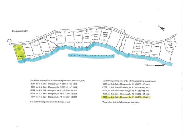 Lot for sale in Témiscaming, Abitibi-Témiscamingue, 5083, Chemin de la Baie-Thompson, 25330352 - Centris.ca