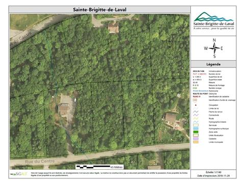 Lot for sale in Sainte-Brigitte-de-Laval, Capitale-Nationale, 51, Rue du Centre, 12175663 - Centris