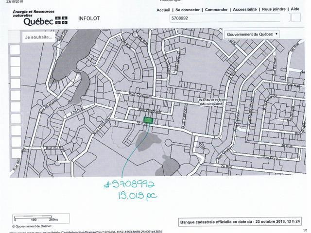 Terrain à vendre à Wentworth-Nord, Laurentides, 7e Rue, 20988577 - Centris.ca