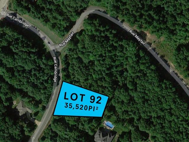 Lot for sale in Hudson, Montérégie, Rue de Cambridge, 21924266 - Centris.ca