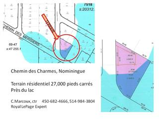 Lot for sale in Nominingue, Laurentides, Chemin des Charmes, 16461829 - Centris.ca